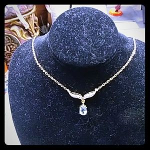 Jewelry - 18k Topaz Gemstones and Diamond Necklace